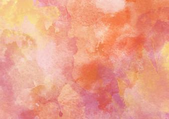 Beautiful Warm Orange Watercolor Background