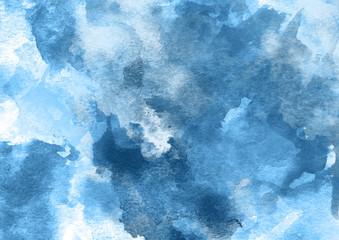 Beautiful Dark Blue Watercolor Background.
