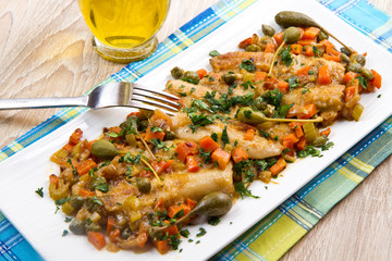 Mackerels with vegetables