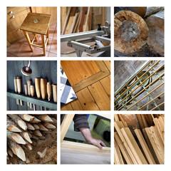 Collage sur le bois et la menuiserie