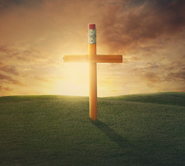 Pencil cross