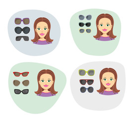 icons and models of glasses