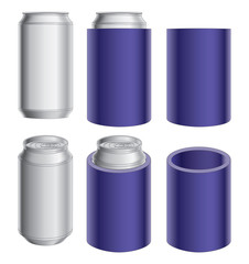 Aluminum Can and Koozie