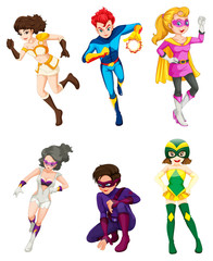 A male and female superheroes