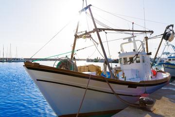 Javea Xabia fisherboats in port at Alicante Spain