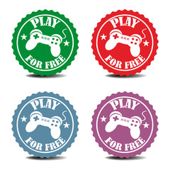 Play for free stickers