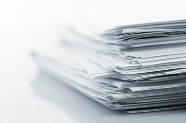 Stack of white papers - fototapety na wymiar
