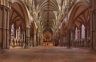 Lincoln Cathedral Nave Wall mural