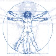 Leonardo Da Vinci Vitruvianischer Mann, Eins-Null-Raster