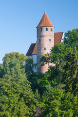 Fototapete - Allgäu, Kaufbeuren, St. Blasius, Blasiusturm