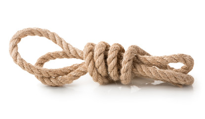 Coil of rope isolated