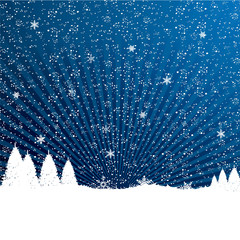 Winter nature snowflakes editable background