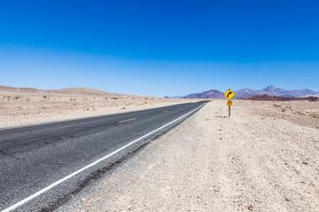 Fotoväggar - Road in the desert