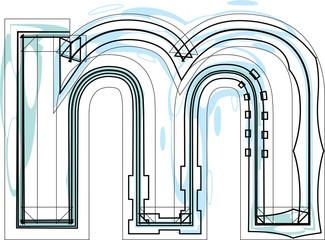 Papier Peint - Font illustration letter m