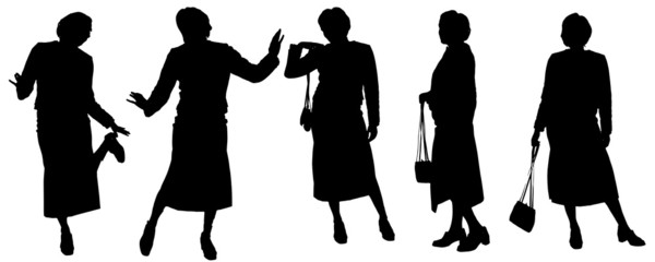 Vector silhouette of woman.
