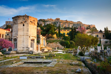 Ruins of the ancient Athens, Acropolis.