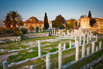 Ruins of the ancient Athens.