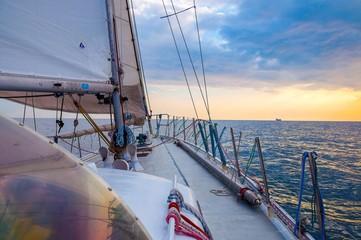 Sailing into sundown
