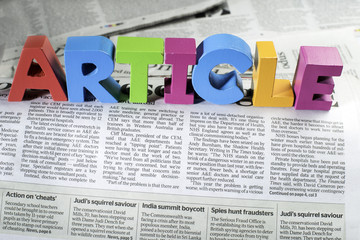 Word article on newspaper