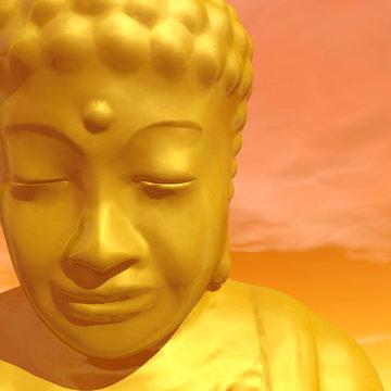Golden buddha - 3D render