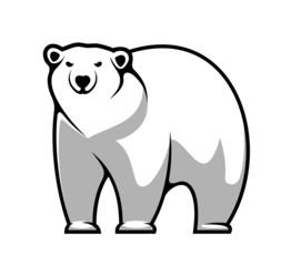 Cartoon polar bear