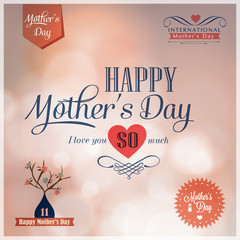 Happy Mothers Day  design elements