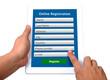 Online registeration form.
