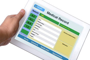 Wall Mural - Patient medical record.
