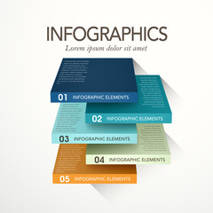 abstract cube infographics