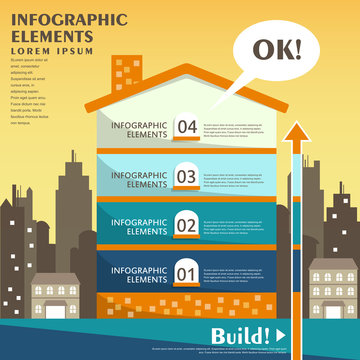 abstract house infographics