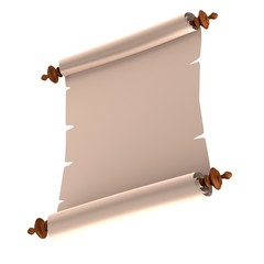 realistic 3d render of scroll