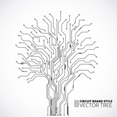 Circuit board tree background