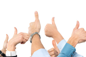 Businesspeople With Thumb Up