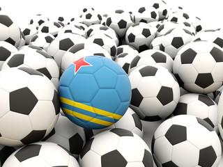 Football with flag of aruba