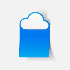 realistic design element: cloud
