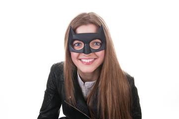 Carnival batman mask: black beauty
