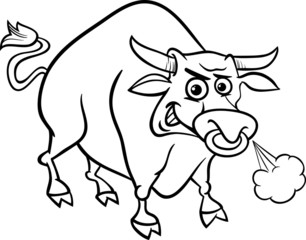 bull farm animal coloring page