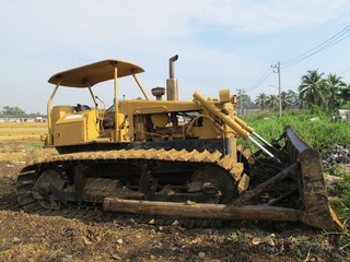 Machine on Land for Building Business construction Site