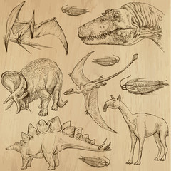 Dinosaurs no.4 - an hand drawn illustrations, vector set