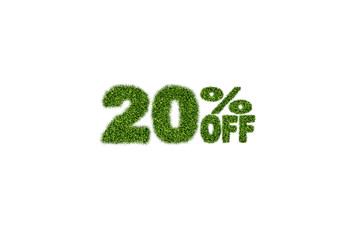 20% off discount sale icon