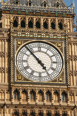 Big Ben clock face extremelly detailed - Westminster London