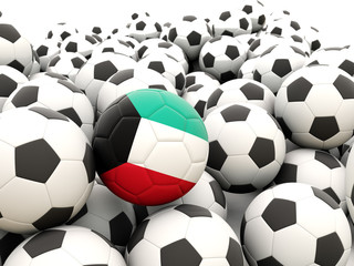 Football with flag of kuwait