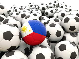 Football with flag of philippines