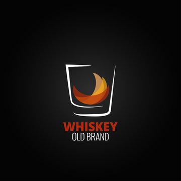 whiskey glass splash design background