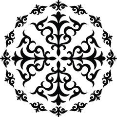 Graphical circular ornament