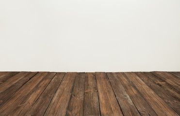 wooden floor, old wood plank, brown vintage board room interior