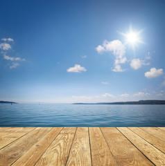 Fototapete - Hintergrund am Wasser
