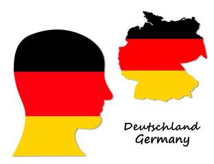 German symbols: population and map