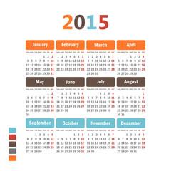 Calendar 2015.