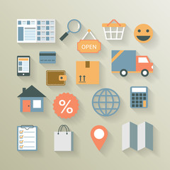 Interface elements for internet ecommerce